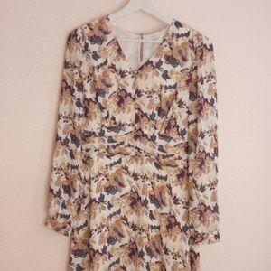 DownEast Floral Print Midi Dress
